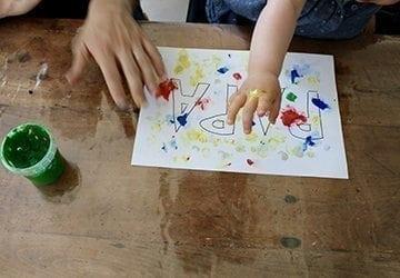 Fête des pères : une peinture by bébé