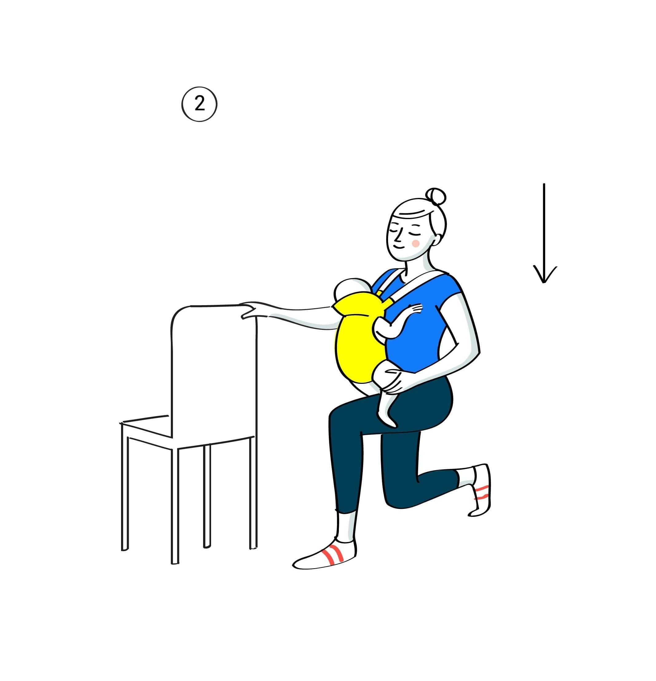 Gym avec bebe fentes arrieres etape2