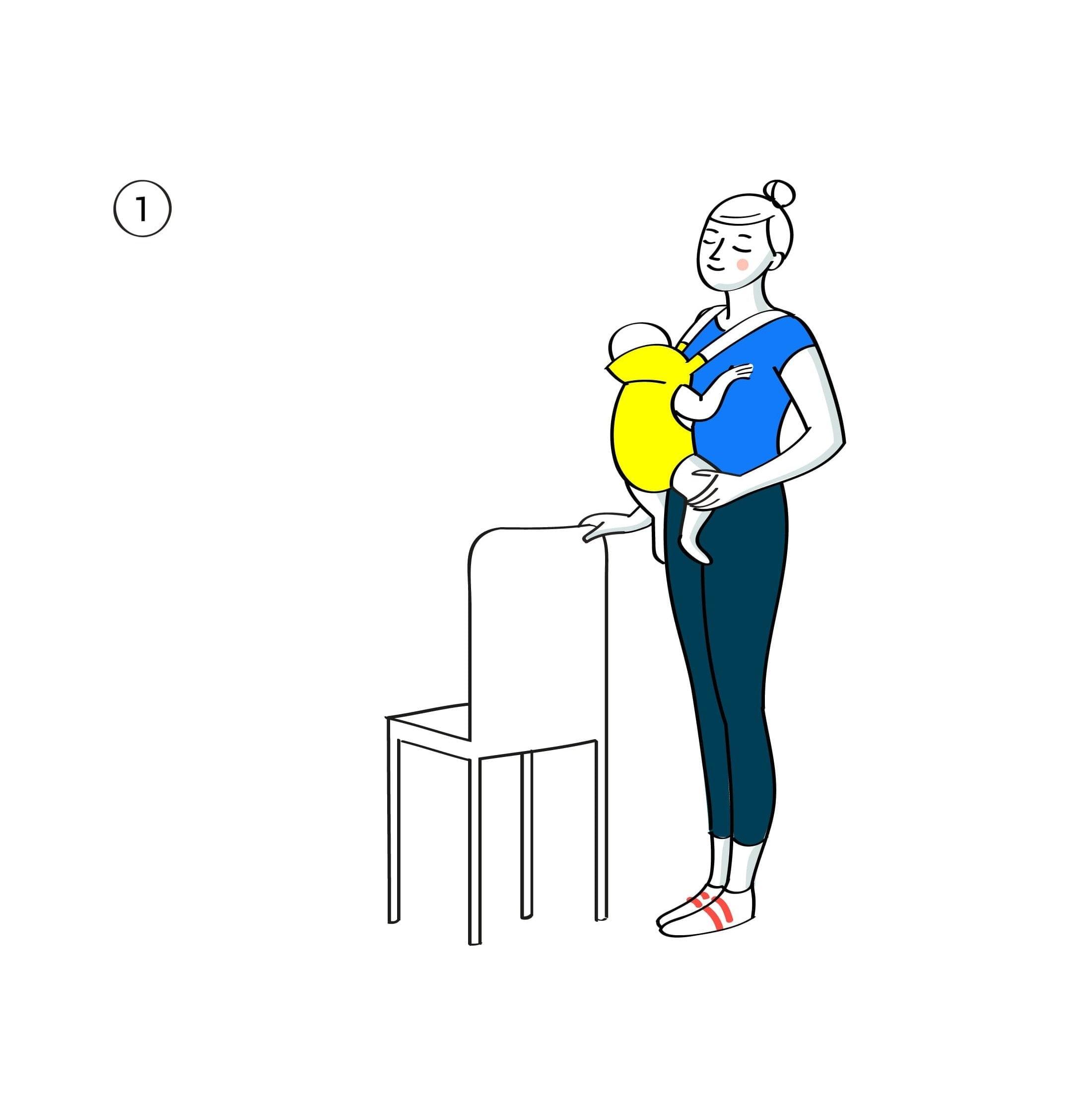 Gym avec bebe fentes arrieres etape1