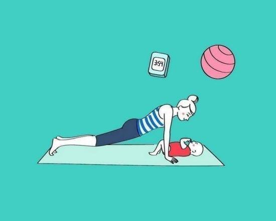 Gym avec Bébé : les pompes à bisous
