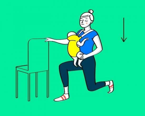 Gym avec bébé : les fentes arrière