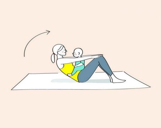 Gym avec bébé : vive le ventre plat !