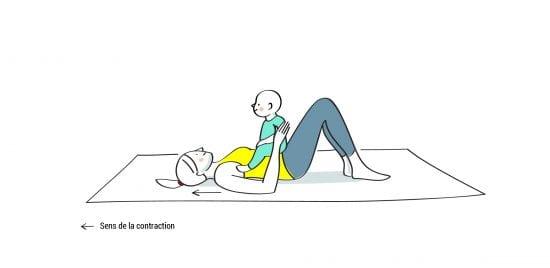 Gym maman bébé abdominaux position 2