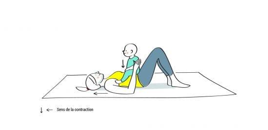 Gym maman bébé abdominaux position 3