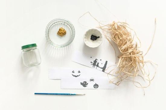 DIY Bougeoir Halloween - Blédina - materiel