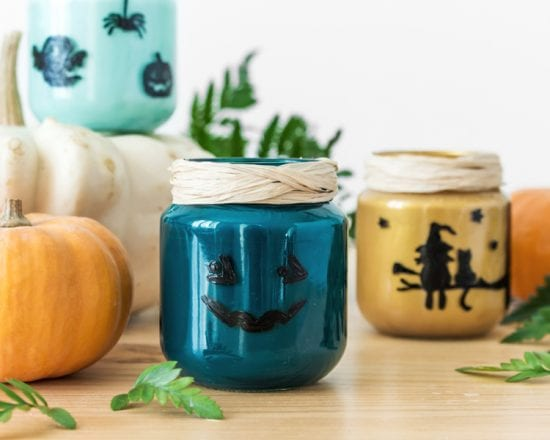 DIY-bougeoir halloween-pot-bledina-push
