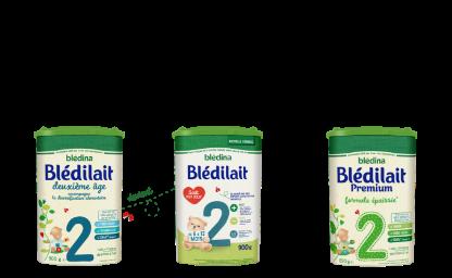 Nos laits infantiles Blédilait2ème âge