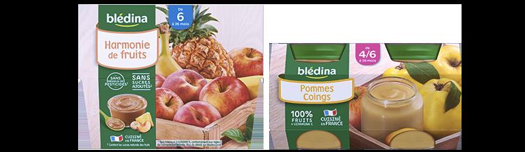 Les Purées de Fruits Blédina