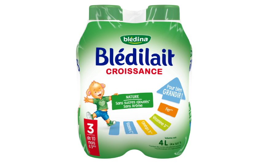 15 cl Blédilait Croissance Nature Liquide 4x1L