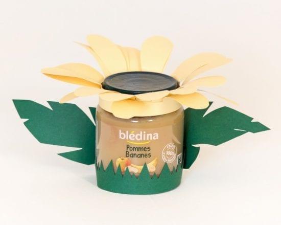 DIY petits pots fruités déguisés - La fleur