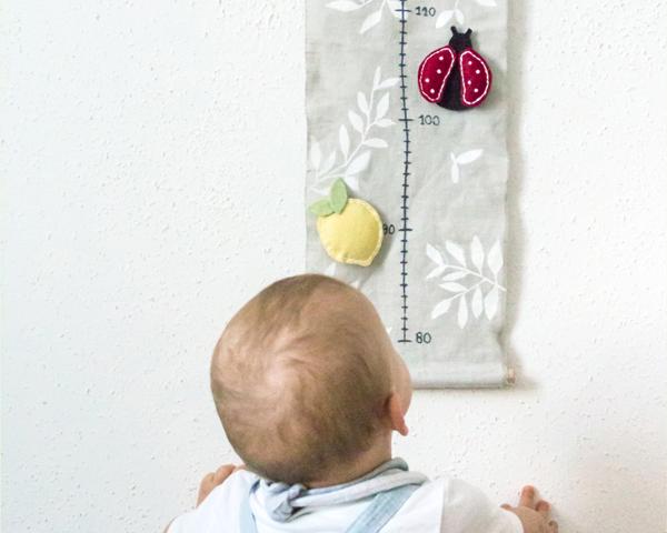 DIY déco chambre bébé : comment réaliser une jolie toise ...