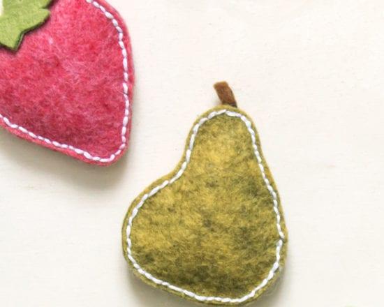 Tuto : réalisez des fruits en feutrine aimantés