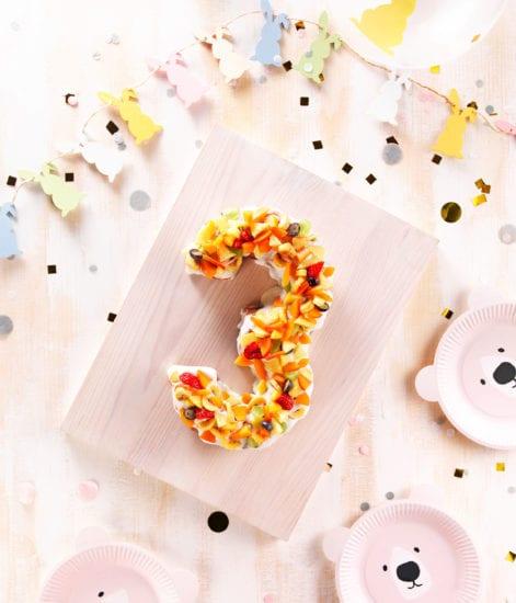 gâteau anniversaire 3 ans - number cake 3 ans