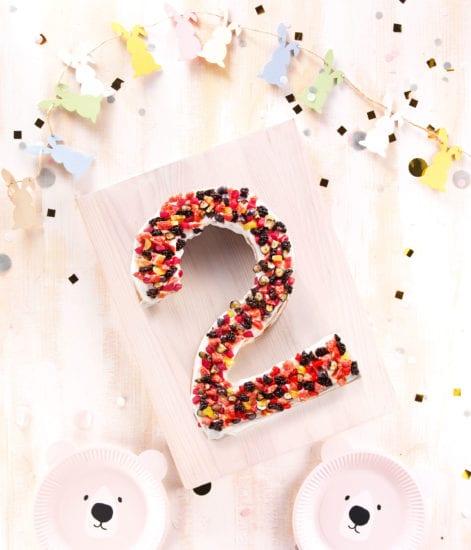gâteau anniversaire 2 ans - number cake 2 ans