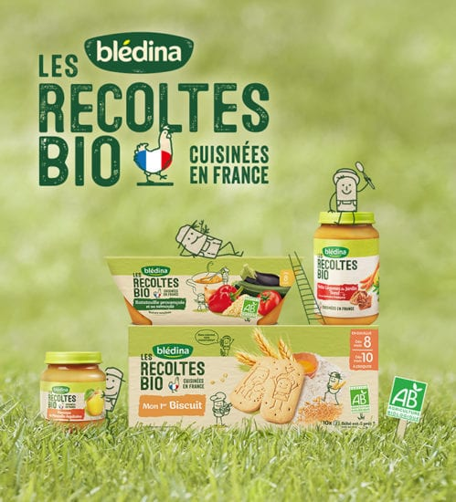 Les récoltes bio de Blédina : toujours plus d'amour pour bébé