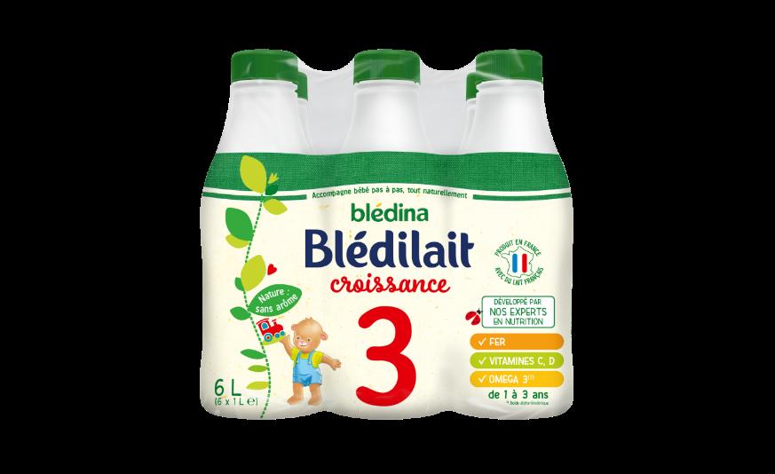 15 cl de  Blédilait Croissance 1L X6