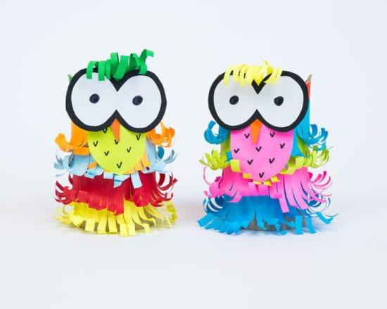 Créez des animaux avec des rouleaux de papier toilette ou d'essuie-tout