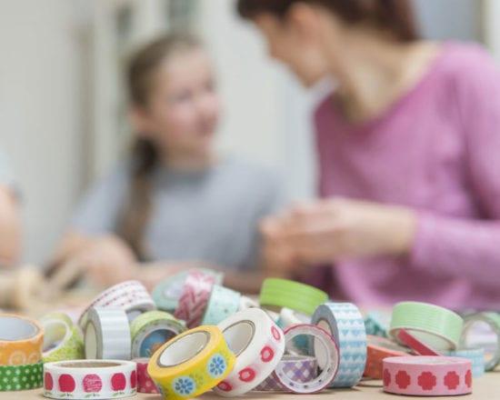 Idées d'activités créatives pour enfants avec du masking tape