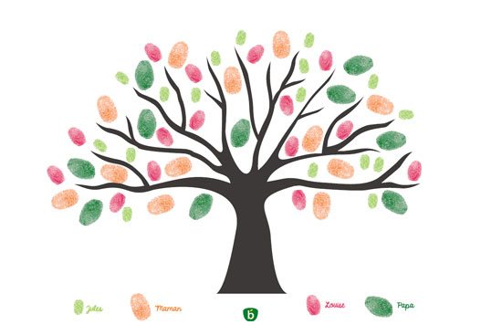 activites enfants maison arbre empreintes