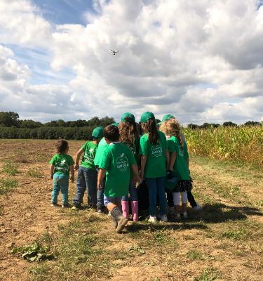 La Cueillette du maïs chez Olivier CHAMBON, le 17 octobre 2020.