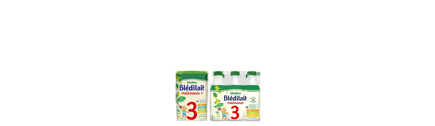 Nos laits infantiles Blédilait Croissance