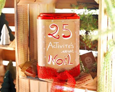 Le DIY : Boîte 25 activités à faire avant Noël !