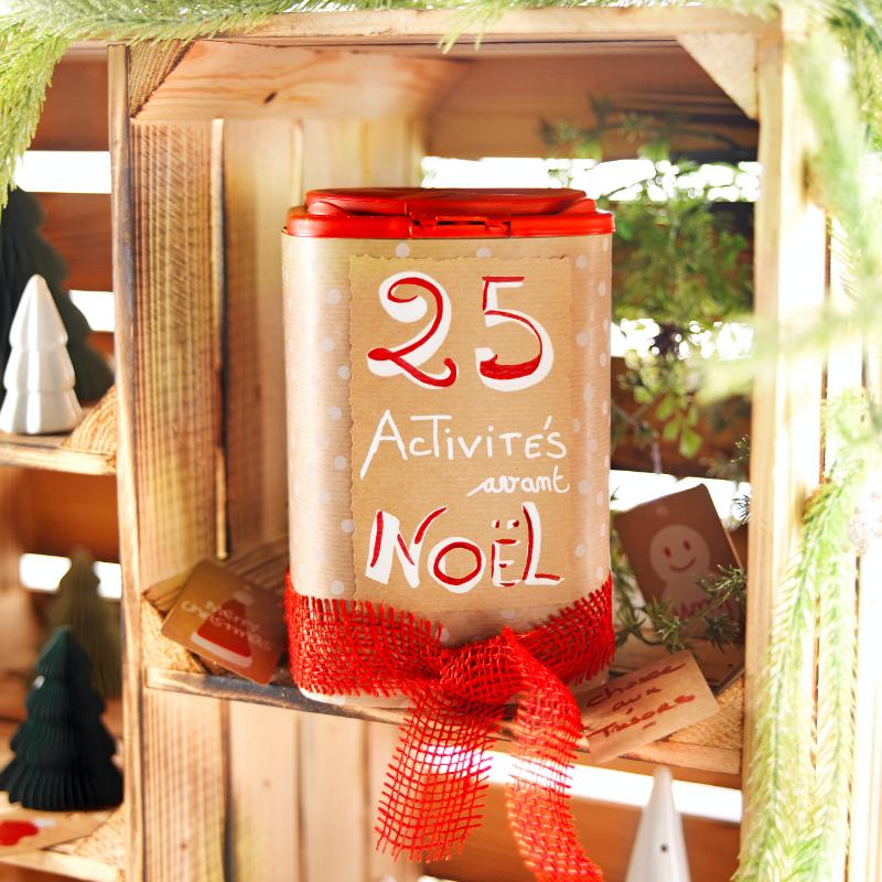 DIY boite 25 activites a faire avant noel resultat