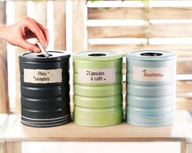 Le DIY : Boîtes de recyclage
