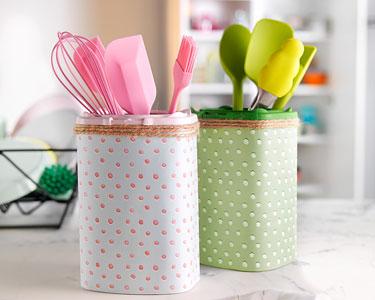 Le DIY: les boîtes de rangement à ustensiles de cuisine