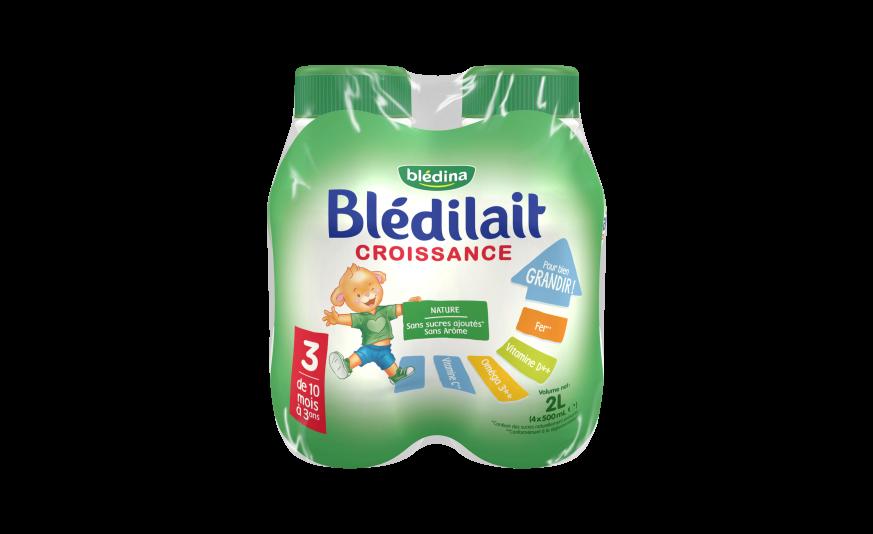 10 cl Blédilait Croissance Liquide 4x500ml