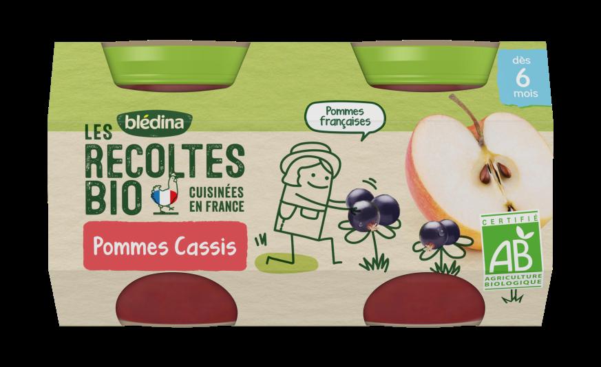 Les Récoltes Bio Pots Pommes Cassis