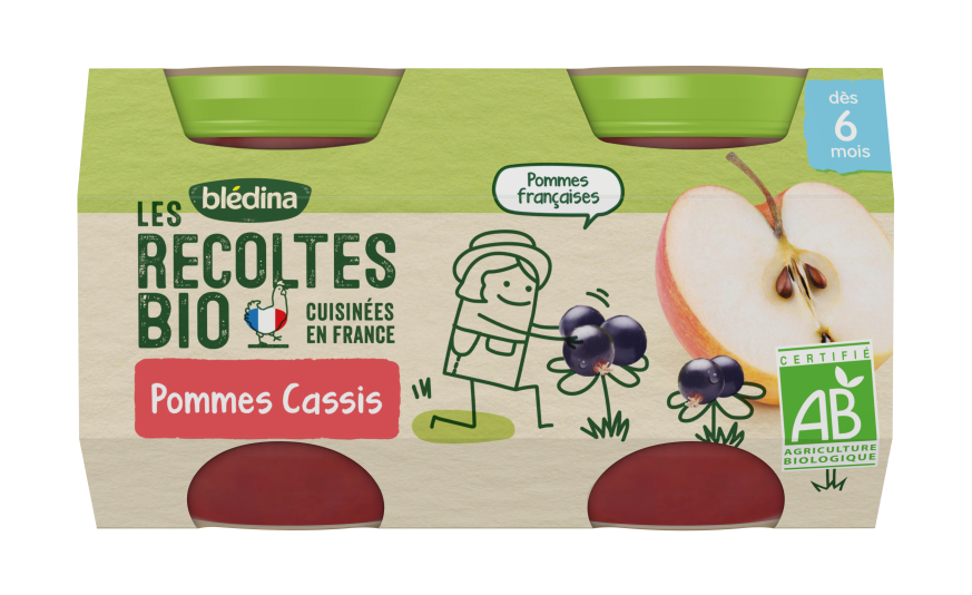 1 u. Les Récoltes Bio Pots Pommes Cassis