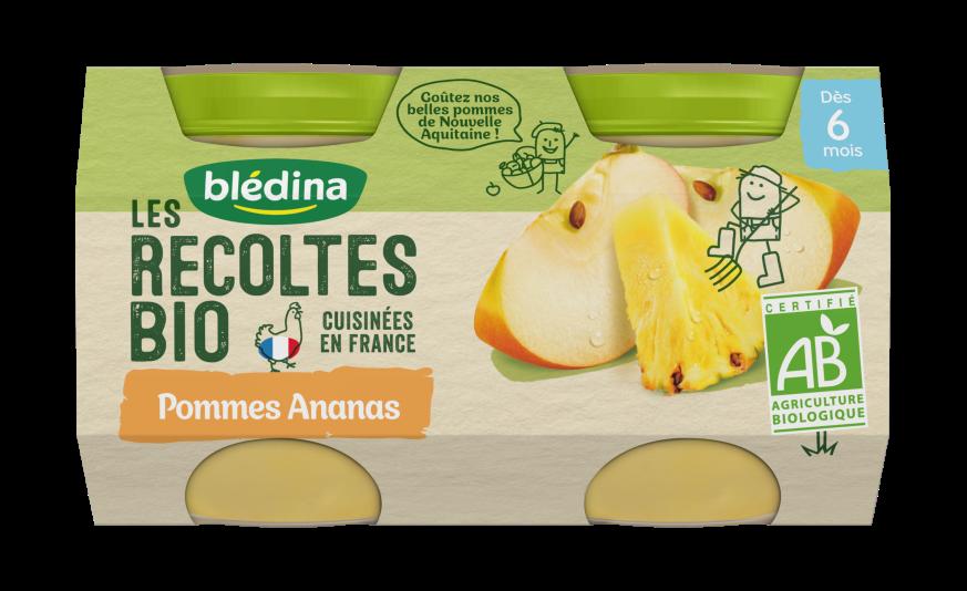 1/2 Les Récoltes Bio Pots Pommes Ananas