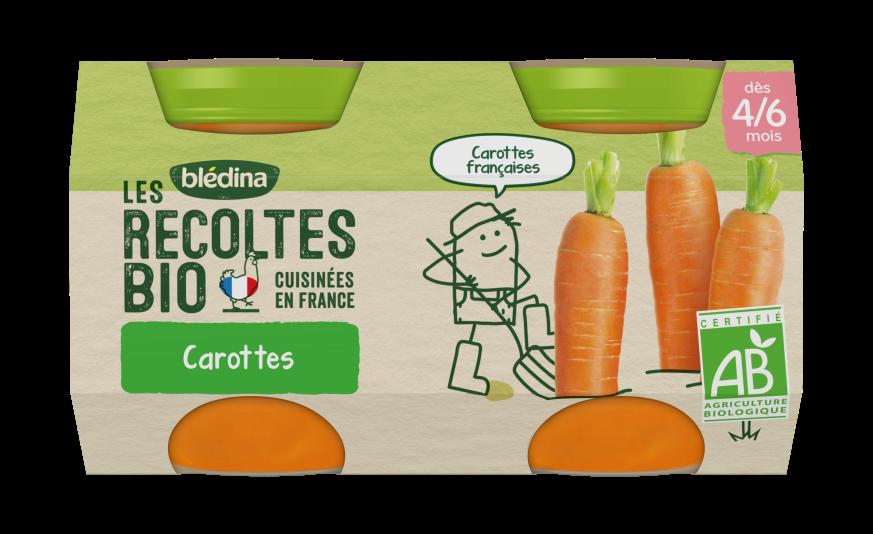 1 u. Les Récoltes Bio Pots Carottes
