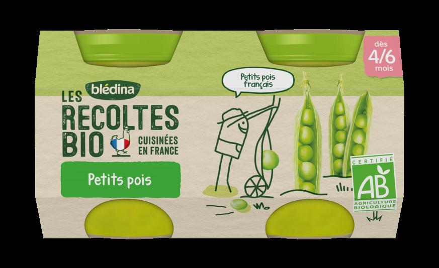 Les Récoltes Bio Pots Petits Pois