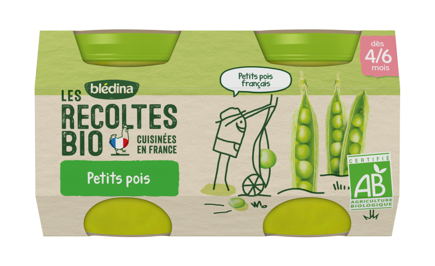 1 u. Les Récoltes Bio Pots Petits Pois