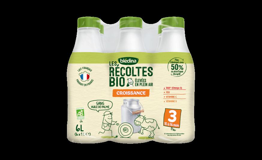 90 ml Les Récoltes Bio Croissance Bio 6x1L