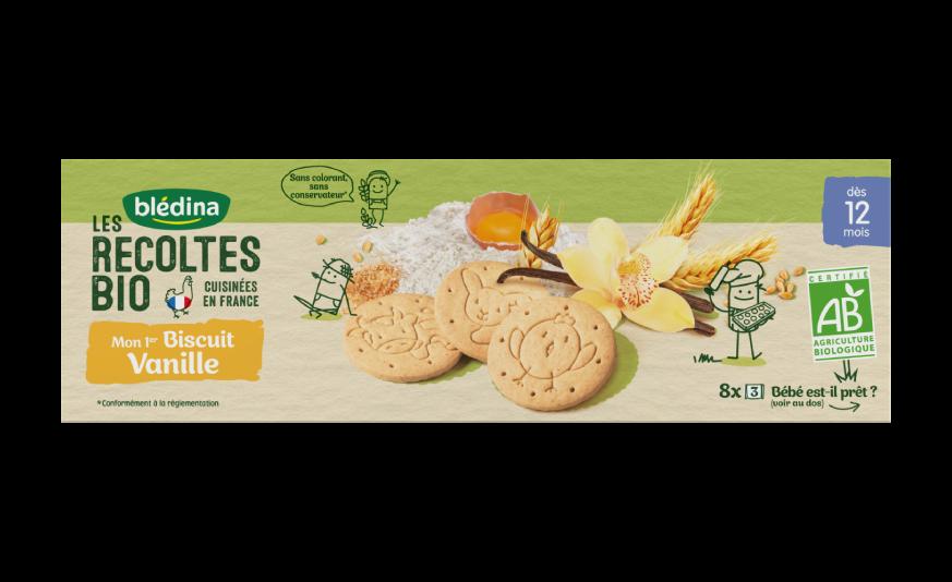 2 biscuits Les Récoltes Bio Mon Premier Biscuit Vanille