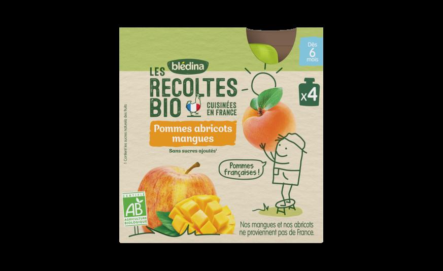 Les Récoltes Bio Gourdes Pommes Abricots Mangues