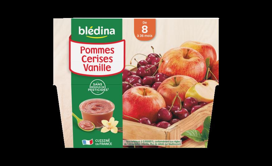 1 Coupelles Pommes Cerises Vanille