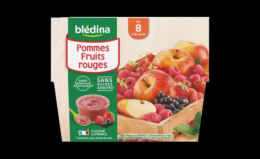 4 Coupelles Pommes Fruits rouges