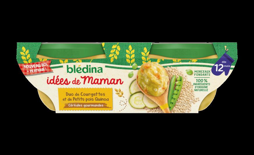 1 u Idées de maman Duo de petits pois courgettes quinoa basilic