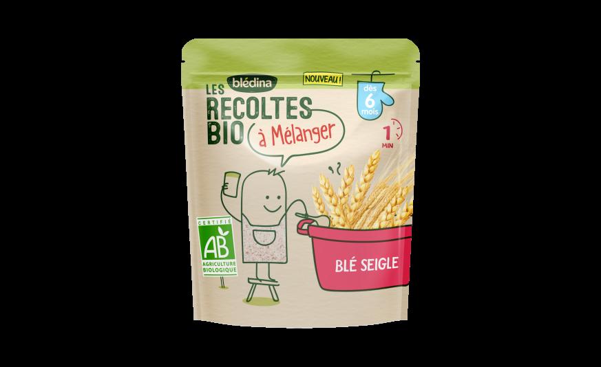 3 c. à c. Les Récoltes Bio à mélanger Blé Seigle