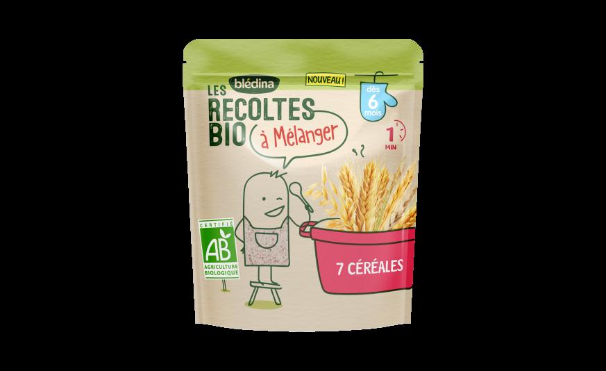 4 c .à s. Les Récoltes Bio à mélanger 7 céréales