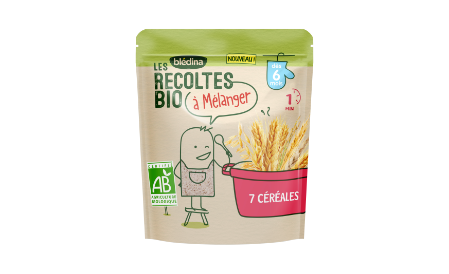 2 c. à s. Les Récoltes Bio à mélanger 7 céréales