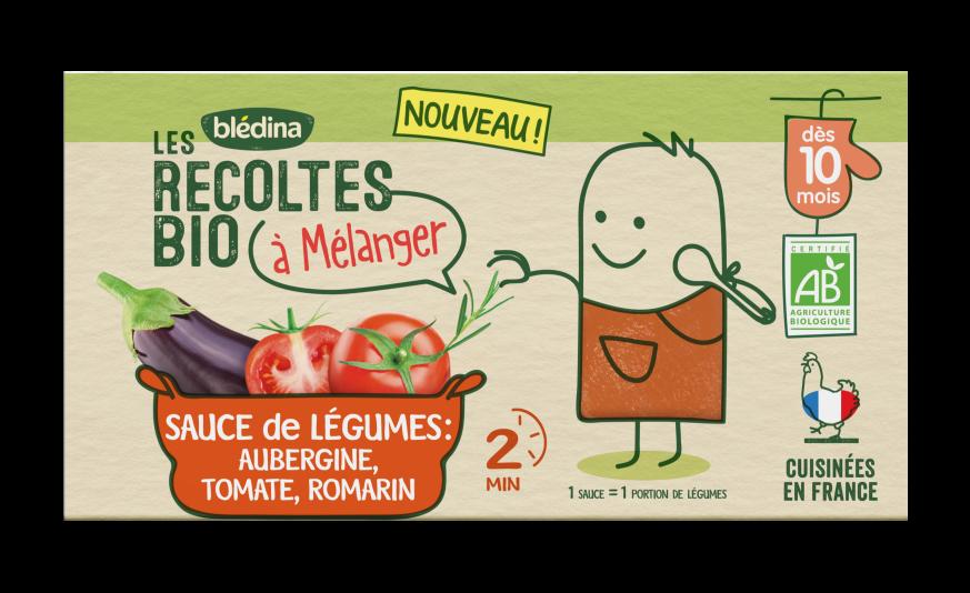 1 u Les Récoltes Bio à mélanger Sauce Aubergine, Tomate, Romarin