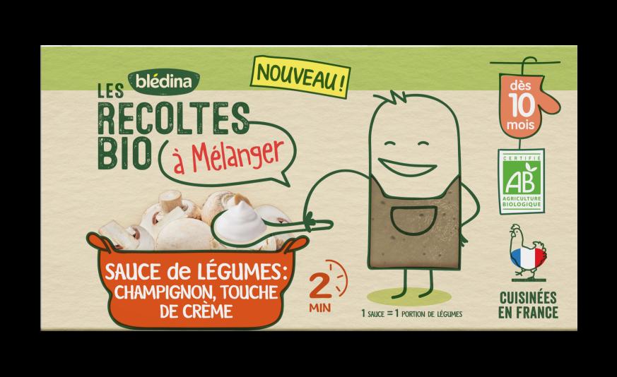 1 brique Les Récoltes Bio à mélanger Sauce Champignon, touche de crème