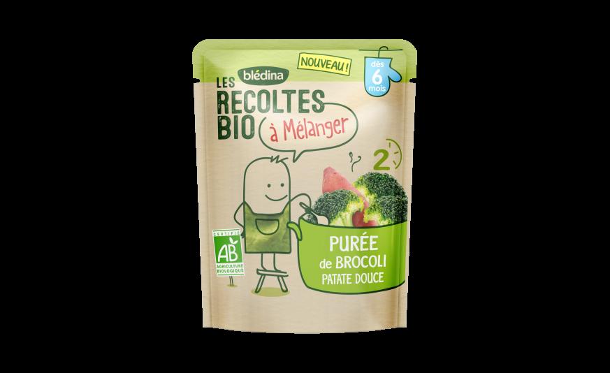 1 Les Récoltes Bio à mélanger Purée de brocoli patate douce