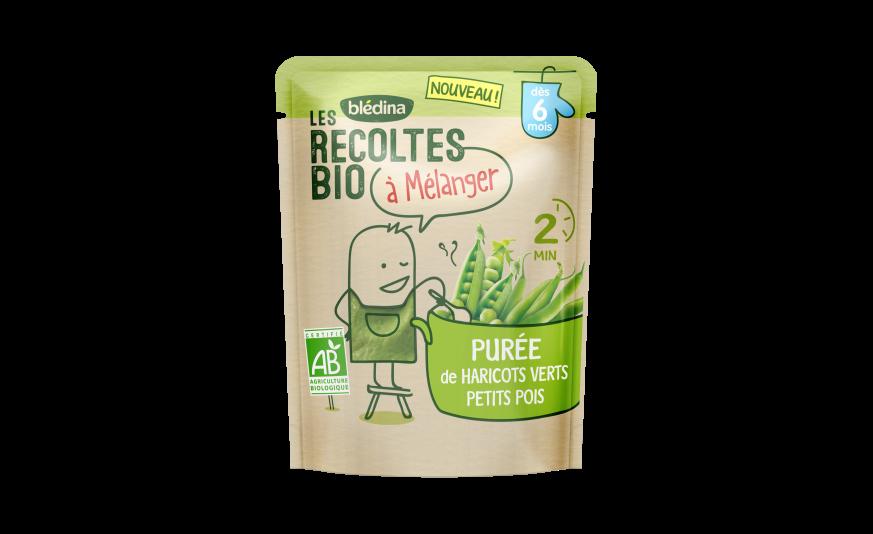 1 u Les Récoltes Bio à mélanger Purée de haricots verts petits pois