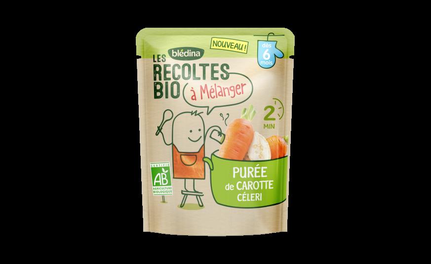 1 sachet Les Récoltes Bio à mélanger Purée de carotte Céleri